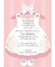 Baby Girl Dress Baby Shower Invitations