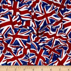 American Pride Union Jack Flag Bright from @fabricdotcom  Designed by Sally Keszler for Fabri-Quilt, this cotton print is perfect for quilting, apparel and home decor accents. Colors include shades of red, white and blue.