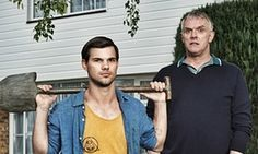 One flew the cuckoo's nest … the new Dale (Taylor Lautner) with Ken (Greg Davies).
