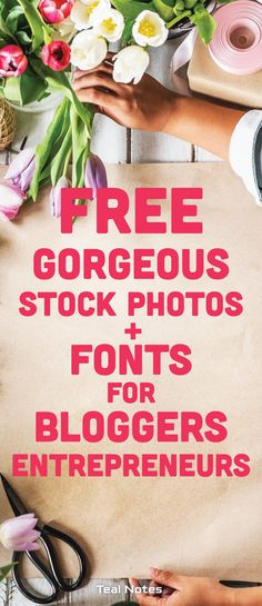 Here's a super list of free stock photos for your blog (and free fonts for your blog too!). Keep your branding on point with these awesome FREE resources. Online entrepreneurs can use stock photos for pins, banners, freebies, downloads, etc. Check out the list! Teal Notes   Free Stock Photos   Free feminine Fonts   Make Money Blogging   Branding   Blogging  