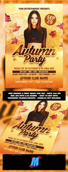 Autumn Party #Flyer Template - Clubs & Parties Events