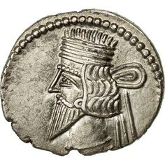 Unfortunately, this collectible item is no longer available ! ➽ Ask us to find it for you : Coin Parthia (Kingdom of) Vologases III Drachm Ekbatana Silver. Parthian Empire, Islamic, Oriental, Coins, Silver, Inspiration, Collection, Biblical Inspiration, Coining