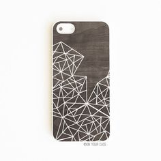 iPhone 5 Case iPhone 5S Case Wood Geometric Lines