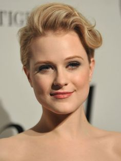 Short & Sweet ~ If you sport a cropped cut, dress up your short hair with a wavy pompadour, like Rachel Evan Wood.