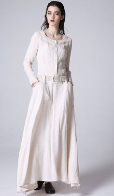 day dressMaxi linen dress women dress spring long by xiaolizi