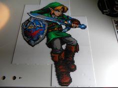 Link - Legend of Zelda (19 pegboards) hama perler beads by steliane