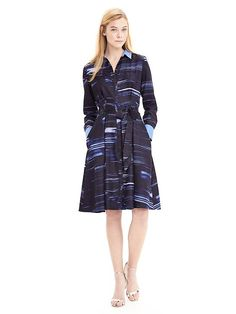 BR Brushstroke Print Shirtdress; not sure that I pull off the shape, but the pattern and the palette are to die for!