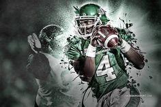 You rock Darian. Canadian Football League, American Football, Go Rider, Saskatchewan Roughriders, Saskatchewan Canada, Football Images, Sports Art, Green Colors, Football Helmets