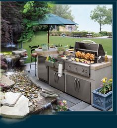 Would love to have this in my backyard. http://abovegroundpoolfinder.com/12-ways-to-turn-your-outdoor-kitchen-into-a-masterpiece