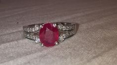 aaa quality natural  3.90 carat ruby ring in 925 by versaillegems