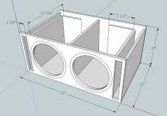 I have a 2000 Honda Civic coupe and want to put in a pair of Alpine 12 inch subwoofers in a ported box. I want to go slot ported with each sub gett. 15 Inch Subwoofer Box, Custom Subwoofer Box, Diy Subwoofer, Subwoofer Box Design, Speaker Box Design, 12 Inch Sub Box, 12 Sub Box, Diy Bluetooth Speaker, Diy Speakers