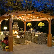 Outdoor bar...ideas for the back yard. #PinMyDreamBackyard