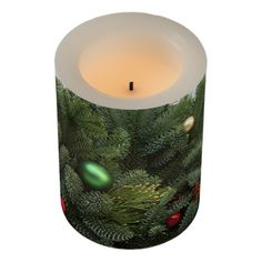 Lush Christmas wreath Flameless Candle