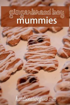 Gingerbread Mummy Halloween Treats
