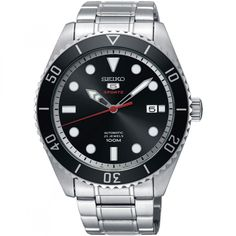 Shop for Seiko Men's Sports Stainless Steel Automatic Watch Get free delivery On EVERYTHING* Overstock - Your Online Watches Store! Seiko 5 Sports Automatic, Seiko 5 Automatic Watch, Automatic Watches For Men, Fine Watches, Sport Watches, Stainless Steel Watch, Stainless Steel Bracelet, Emporio Armani