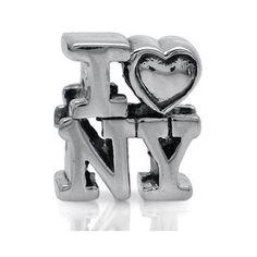 AUTH Nagara 925 Sterling Silver I LOVE NEW YORK European Charm Bead (Fits Pandora Chamilia) BZ0062265 SilverShake.com