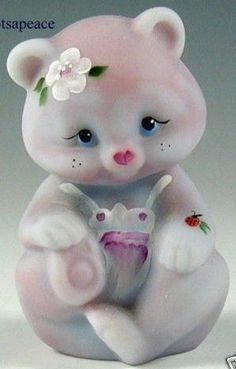 Fenton Art Glass Bear