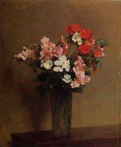 Geraniums, 1888, Henri Fantin-Latour Medium: oil, canvas