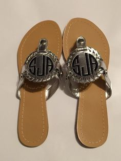 A personal favorite from my Etsy shop https://www.etsy.com/listing/293323861/monogrammed-embroidered-sandals