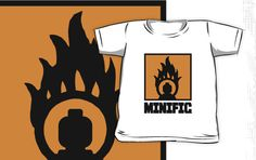 """MINIFIG IN FLAME LOGO by Customize My Minifig"" Kids Clothes by ChilleeW 