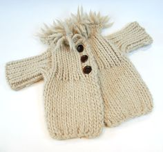 Knitted baby coat!