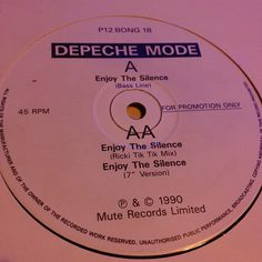 """#modemay Day 31: Enjoy The Silence (UK pro 12"""") The first record """"listener Daniel"""" ever gave KROQ to play. For most of Violator, KROQ got the jump on playing the remixes because I got them early from Mute UK. :)"""