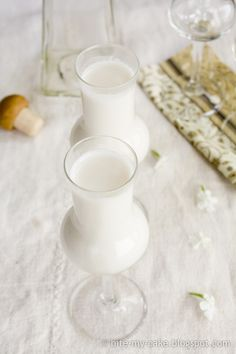 Home made Batida de coco (coconut liqueur)