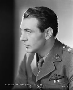 Gary Cooper.  A great actor, and a man of conscious, who served in the armed forces during world war 2