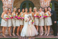 Bridal party bouquets (Flowers by Lee Forrest Design, photo by: Concept Photography)