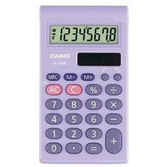 Casio SL-450TP Basic Calculator ❤ liked on Polyvore featuring home, home decor, office accessories, fillers, accessories, objects, tech, calculator, casio and casio calculator