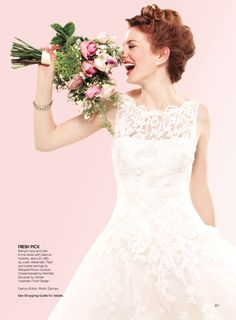 Justin Alexander wedding dress 8630 is featured in Bridal Guide September/October 2012 issue.