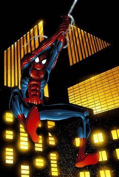 #Spiderman #Fan #Art. (Spider-Man Cover on TV Guide) By: John Romita Jr. (THE * 5 * STÅR * ÅWARD * OF: * AW YEAH, IT'S MAJOR ÅWESOMENESS!!!™)[THANK Ü 4 PINNING!!!<·><]<©>ÅÅÅ+(OB4E)
