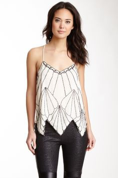 Adam Embellished Camisole @Pascale Lemay De Groof