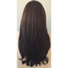 Chocolate brown to black ombre
