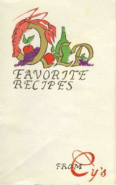 Cy's Seafood Restaurant Old Favorite Recipes cover
