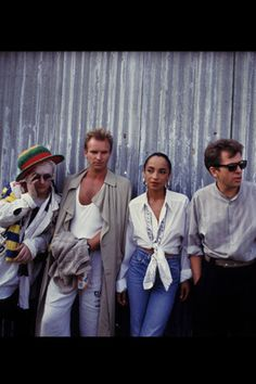 Boy George, Sting, Sade, and Peter Gabriel. What a surprise seeing these four together!