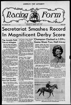 I love this horse, wish I had been old enough to know him :-) ....Big Red smashed records & made headlines!