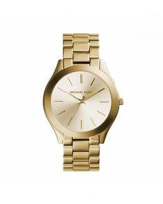 Michael Kors - Relógio Runway fino dourado - Relógios de pulso - Mulheres