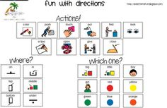Fun with directions app review!  Free download visual support to use with app!  Available at Speech Time Fun!