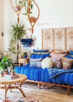 Move Over, Minimalism—These Boho Living Rooms Are Bursting With Color