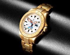 Rolex Yachtmaster Gold POPEYE by DRx Romanelli x Bamford Watch Department