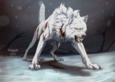 Blood the scars he has completely seem like they're bleed all - Anime Wolf Anime Wolf, Pet Anime, Anime Animals, Fantasy Creatures, Mythical Creatures, Wolf Artwork, Werewolf Art, Fantasy Wolf, Wolf Pictures