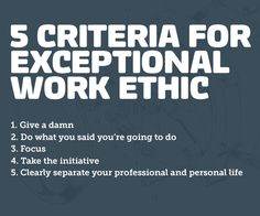 5 Criteria for Exceptional Work Ethic- By Blue Collar Agency