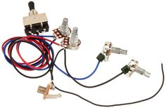 Gibson Guitar Replacement Wiring Harness 2v2t 3 Way Toggle Switch Jack 500k Pots #lotmusic
