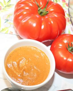 Roasted Tomato Eggplant & Red Pepper Soup - Fresh is Real