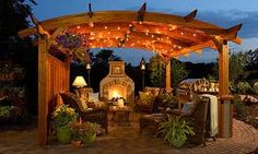 Image result for outside fireplace