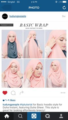 30 quick and easy simple hijab tutorials you can do Square Hijab Tutorial, Simple Hijab Tutorial, Hijab Simple, Pashmina Hijab Tutorial, Hijab Style Tutorial, Scarf Tutorial, Stylish Hijab, Hijab Casual, Hijab Chic