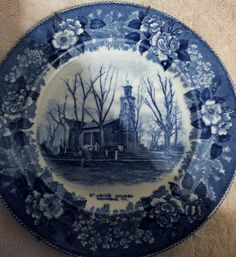 SALE Antique Old English Staffordshire Plate St. John's Church Adams