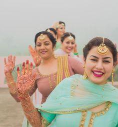 A Beautiful DIY Wedding In Their Own Ancestral Village:)!!! #punjabiwedding #pastels #sikhwedding