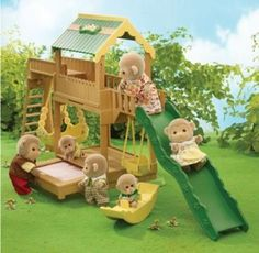 Calico Critters Garden Playground- For Caroline - I wanted these so badly when I was a little girl!